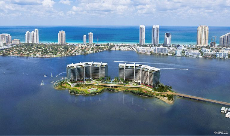 Prive on a Private Island, Luxury Waterfront Condominiums Located at 5000 Island Estates Blvd, Aventura, FL 33160
