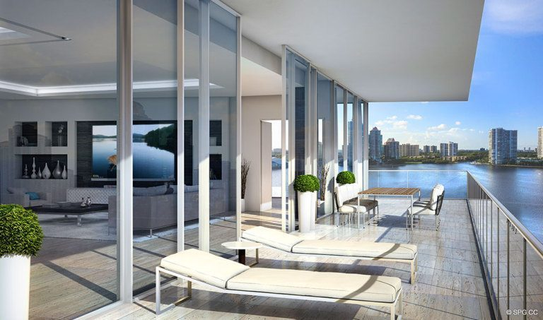 Prive Terrace, Luxury Waterfront Condominiums Located at 5000 Island Estates Blvd, Aventura, FL 33160