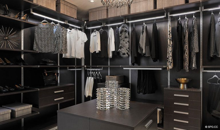 Prive Walk-In Closet, Luxury Waterfront Condominiums Located at 5000 Island Estates Blvd, Aventura, FL 33160