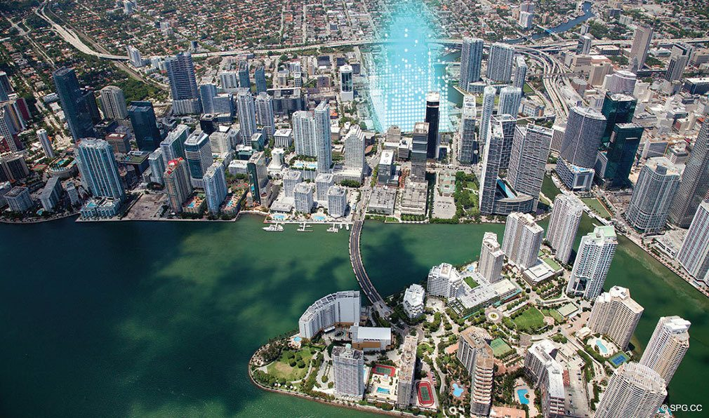 Location of Reach Brickell City Centre, Luxury Seaside Condominiums Located at 700 Brickell Ave, Miami, FL 33131
