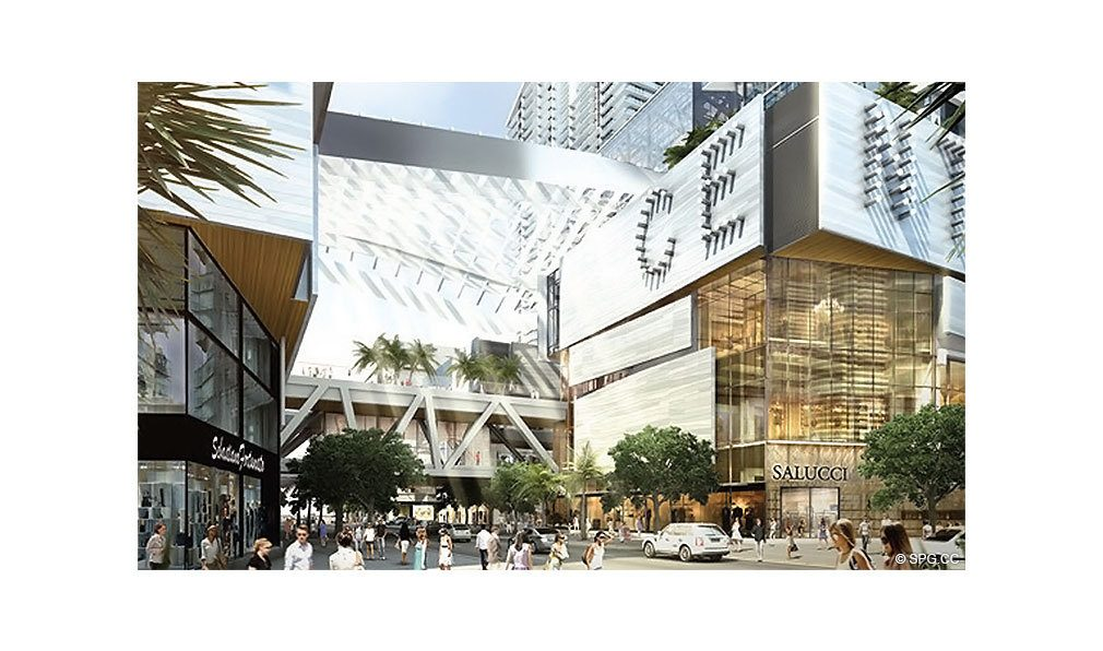 Street Level at Reach Brickell City Centre, Luxury Seaside Condominiums Located at 700 Brickell Ave, Miami, FL 33131