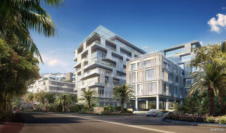 View of Ritz-Carlton Residences, Luxury Waterfront Condominiums Located at 4701 N Meridian Ave, Miami Beach, FL 33140