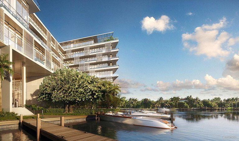 Docks at Ritz-Carlton Residences, Luxury Waterfront Condominiums Located at 4701 N Meridian Ave, Miami Beach, FL 33140
