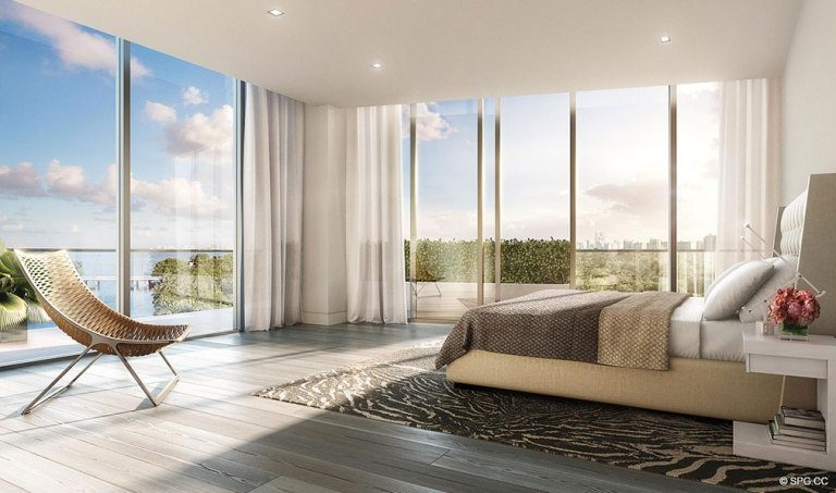 Ritz-Carlton Residences Bedroom, Luxury Waterfront Condominiums Located at 4701 N Meridian Ave, Miami Beach, FL 33140