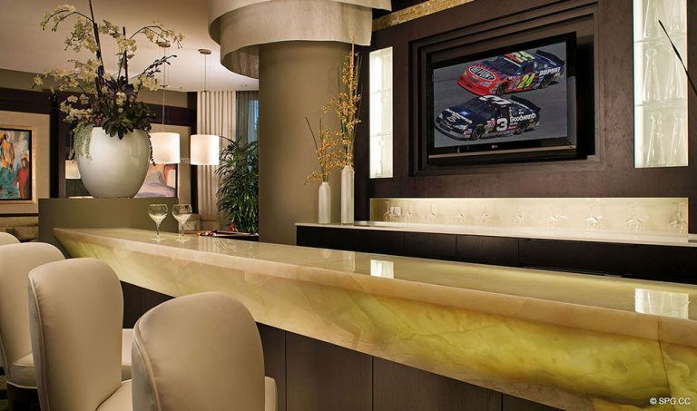Bar at Ritz-Carlton Residences, Luxury Oceanfront Condominiums Located at 2700 N Ocean Dr, Palm Beach, FL 33404