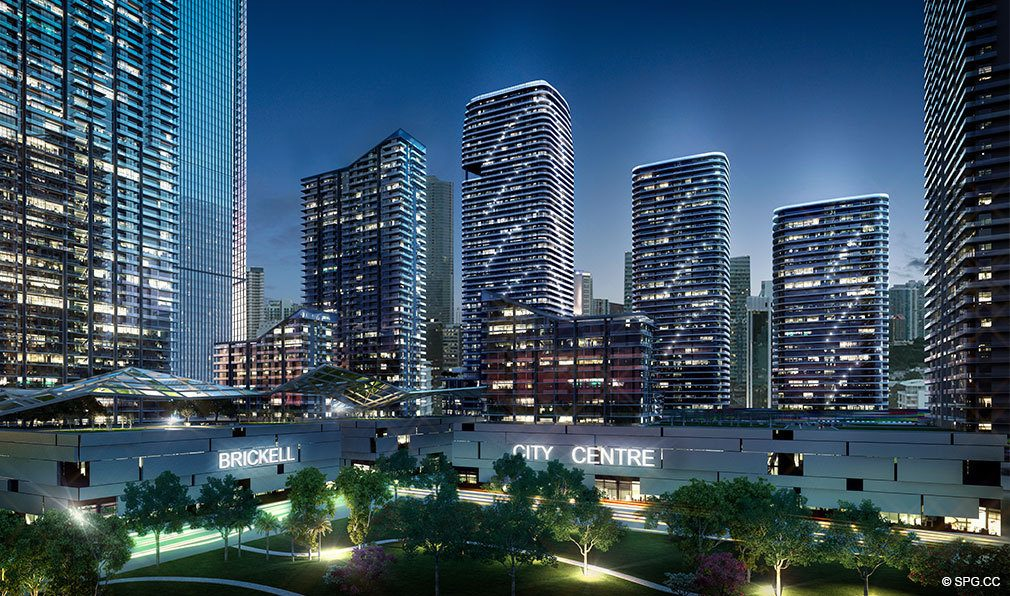 SLS Lux Brickell, Luxury Seaside Condominiums Located at 801 S Miami Ave, Miami, FL 33130