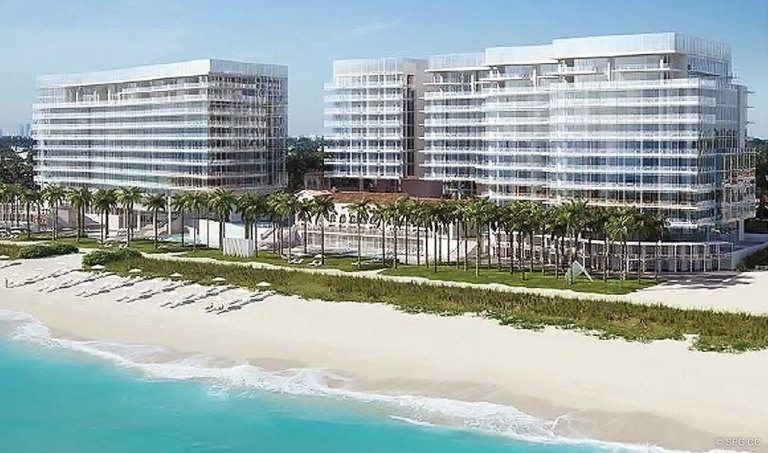 Beach at Surf Club, Luxury Oceanfront Condominiums Located at 9011 Collins Ave Surfside, FL 33154