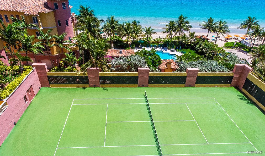Palms Tennis Court, Luxury Oceanfront Condominiums Located at 2100-2110 N Ocean Blvd, Ft Lauderdale, FL 33305