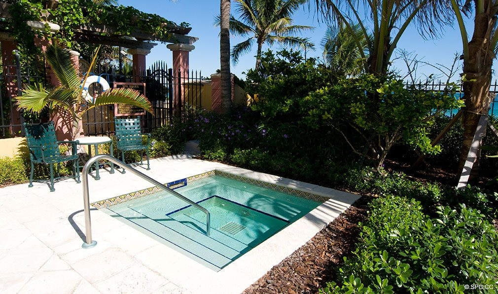 Palms Jacuzzi, Luxury Oceanfront Condominiums Located at 2100-2110 N Ocean Blvd, Ft Lauderdale, FL 33305