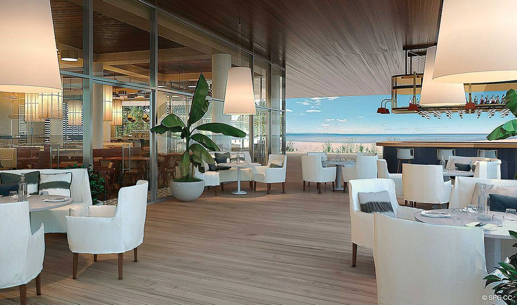 Beachfront Dining at Auberge Beach Residences, Luxury Oceanfront Condos in Ft Lauderdale