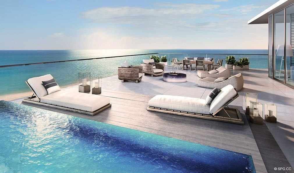 Oceanfront Terrace Concept for Auberge Beach Residences, Luxury Oceanfront Condos in Ft Lauderdale
