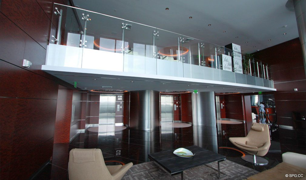 Jade Beach Main Lobby, Luxury Oceanfront Condominiums Located at 17001 Collins Ave, Sunny Isles Beach, FL 33160