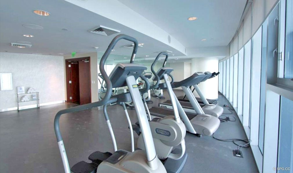 Fitness Center at Jade Beach, Luxury Oceanfront Condominiums Located at 17001 Collins Ave, Sunny Isles Beach, FL 33160