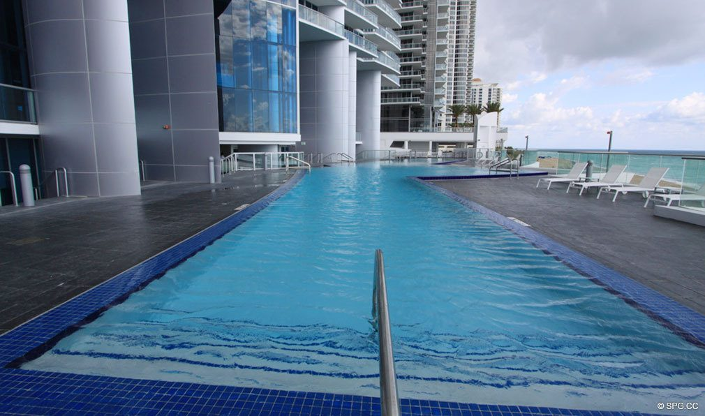 Pool at Jade Beach, Luxury Oceanfront Condominiums Located at 17001 Collins Ave, Sunny Isles Beach, FL 33160