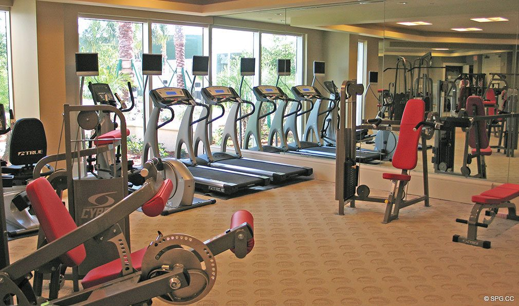 Fitness Center at Bellaria, Luxury Oceanfront Condominiums Located at 3000 South Ocean Blvd, Palm Beach, FL 33480
