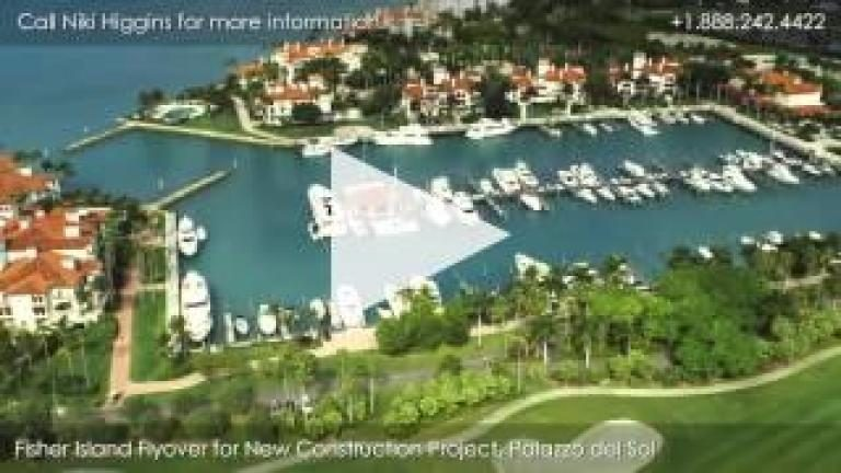 Palazzo del Sol, New Construction on Fisher Island, Island Flyover
