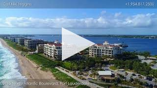 Aerial Drone Video of Bellaria, Luxury Oceanfront Condos in Palm Beach